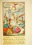 Title page from the Johannes Van Keulen Atlas, 1734.