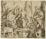 The Virgin with Child and Saints, by Jacopo de Barbari (1445-1516), engraving.