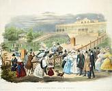 Wheelchairs Race at Tivoli Pavilion at Schoenbrunn, 1831, Austria 19th Century.