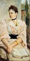 Portrait of Paola Bandini, 1893, by Silvestro Lega (1826-1895).  Private Collection