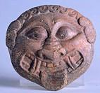 Gorgon's head, from Vignanello, Lazio, Italy. Faliscan Civilization, 6th Century BC.  Civita Castellana, Museo Dell'Agro Falisco (Archaeological Museu...