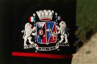 Militaria, Italy, 20th century. Coat of arms of the Cuirassier Regiment.