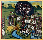 Militaria, Italy, 20th century. The Italians in Abyssinia. Painting by an Anonymous Abyssinian Artist, approximately 1937.  Rome, Museo Storico Della ...
