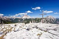View from Monte Piano in Alta Pusteria valley, Dolomites, towards Croda Rossa mountain, Alto Adige, Italy, Europe