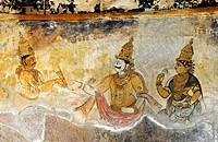 Ancient painting in Thanjavur Tanjore,State of Tamil Nadu, South India,India,Asia