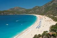 Lagoon Beach, Olu Deniz, near Fethiye, Aegean, Anatolia, Turkey, Asia Minor, Eurasia