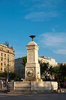 Fountain 1861 at Terazija square central Belgrade Serbia Europe