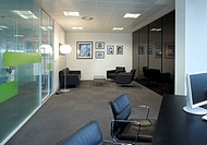 THE PENINSULA, ID:SR/SHEPPARD ROBSON, MANCHESTER, 2010, INTERIOR OF OFFICE WITH CHAIRS,OFFICE, Architect