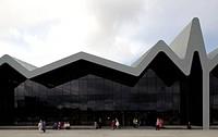 Riverside museum of Transport designed by Zaha Hadid Architects. Main entrance facade, ZAHA HADID ARCHITECTS, UNITED KINGDOM, Architect