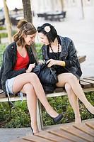 Teen girfriends in the park
