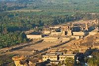 India, Karnataka, Hampi, View of Vijayanagara ruins