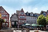 Marketplace of Hachenburg, Westerwald, Rhineland-Palatinate, Germany, Europe