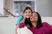 Hispanic woman with her daughter