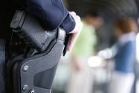 Midsection of a female cop