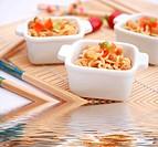 Asiatisches Nudelgericht