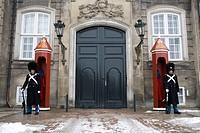 Guards at Amalienborg Palace, Copenhagen, Denmark, Europe
