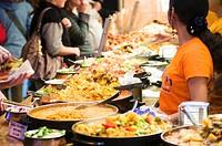 Asian market in London