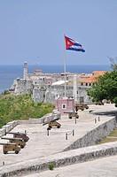 Fortaleza San Carlos de la Cabana Fort, Fort of Saint Charles, harbour fortress, historic district, Havana, Cuba, Caribbean, Central America