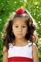 Latin little girl portrait