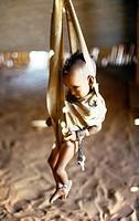 Sinnar Sudan Mwelhi Camp Weighing A Baby