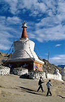 Stupa in Leh, Ladakh, Jammu and Kashmir, India, Asia