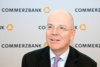Martin Blessing, Chief Executice Officer, CEO, of Commerzbank AG during the financial statement press conference on 23.02.2011 in Frankfurt am Main, H...