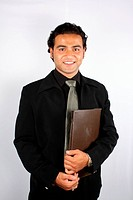 Businessman with File