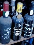 Bottles of vintage Port and at the Brasil store