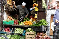 Fruit and veg stall in a marrakech souk
