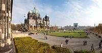 Look of the Altes Museum, Lustgarten, Berlin Cathedral, Berlin center, Berlin, Germany, Europe