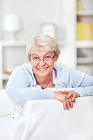Mature attractive woman at home