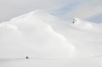 Winter_Wanderweg Gottesackerplateau, Vorarlberg, Allgäuer Alpen, Österreich Winter hiking trail Gottesackerplateau, Vorarlberg, Allgaeu Alps, Austria