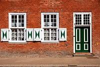 Historic facade in the dutch quarter
