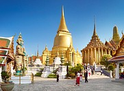 Thailand - Bangkok, Grand Royal Palace, Wat Phra Kaeo, Golden Chedi