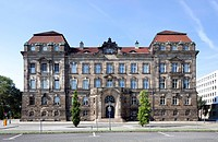 Saxon state chancellery, the former royal Saxon ministerial building, Neustadt, Dresden, Saxony, Germany, Europe, PublicGround