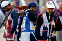 Czech Republic´s Jan Sychra right during the men´s skeet finals, at the 2012 Summer Olympics, Tuesday, July 31, 2012, in London, Britain CTK Photo/Mic...