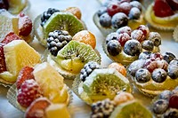 Small tartlets with fruits at a Pasticceria, cake shop, Rome, Lazio region, Italy, Europe
