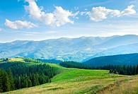 Summer mountain plateau landscape