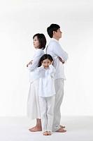 A family having argument