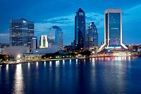 Buildings at the waterfront, St. John´s River, Jacksonville, Florida, USA