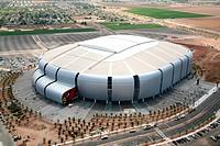 Aerial view of a stadium, University of Phoenix Stadium, Glendale, Phoenix, Arizona, USA