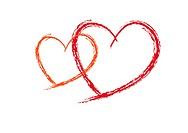 Two Valentine Red love heats