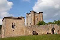 Facade of a castle, Arques Castle, Arques, Aude, Languedoc_Rousillon, France