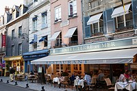 France, Normandy, Honfleur, Restaurants and Outdoor Cafes