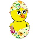 easter egg hatch as chicken