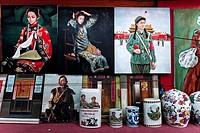 Souvenir shop, Liulichang street, Beijing, China, Asia.