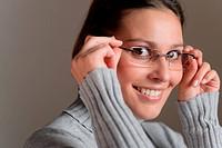 Designer glasses _ successful architect woman