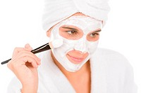 Teenager problem skin care _ woman facial mask