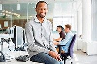Young businessman in office