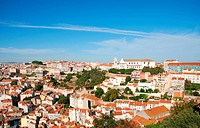 beautiful cityscape view of the capital of Portugal